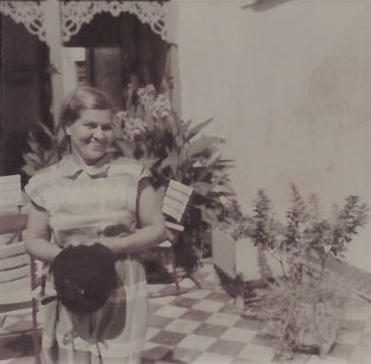 Rita dans le patio du Véracruz