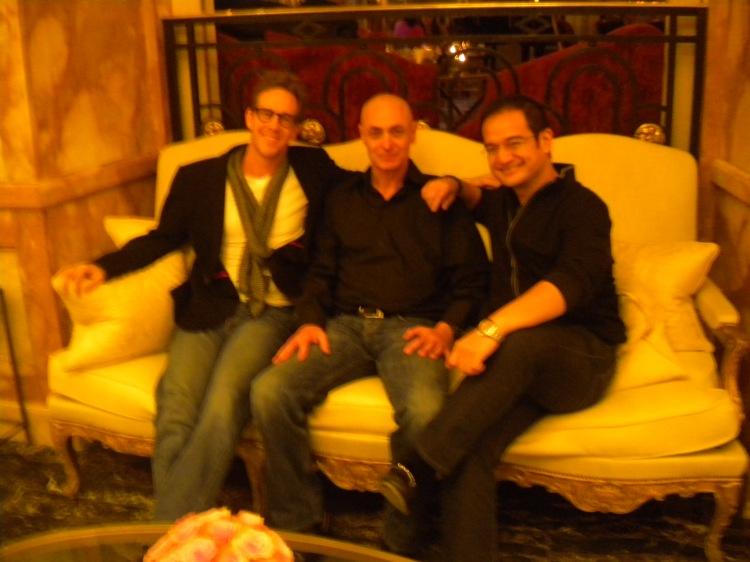 Joey Mc Farland, Vincent Didier, Riza Aziz, à l'hôtel Crillon à Paris le 7 février 2013.