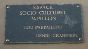 La plaque commémorative.