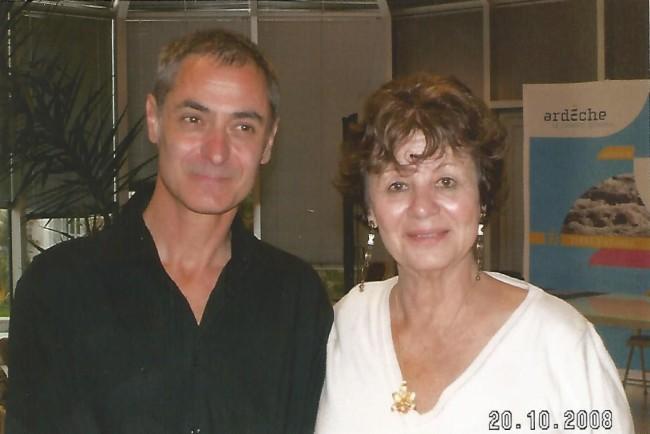Vincent Didier et une nièce d'H.Charrière.